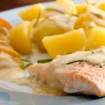 Fisch und Fleisch dampfgaren