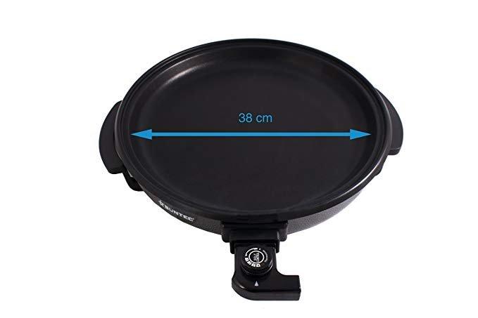 Aluminiumlegierung, Antihaftbeschichtung, regulierbarer Thermostat, max. 1500 Watt SUNTEC Multi-Pfanne MPF-8205
