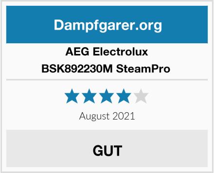 AEG Electrolux BSK892230M SteamPro  Test