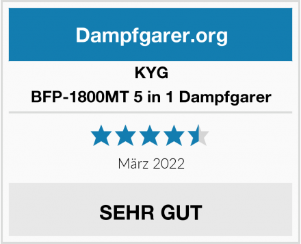 KYG BFP-1800MT 5 in 1 Dampfgarer Test