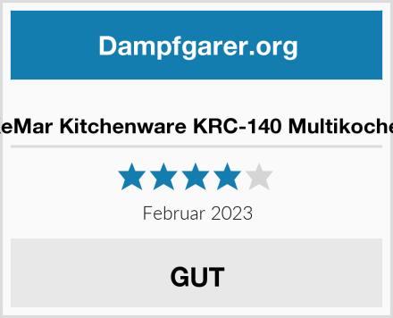 KeMar Kitchenware KRC-140 Multikocher Test