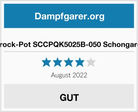 Crock-Pot SCCPQK5025B-050 Schongarer Test