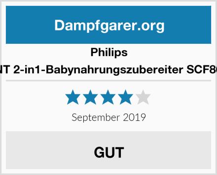 Philips AVENT 2-in1-Babynahrungszubereiter SCF862/02 Test