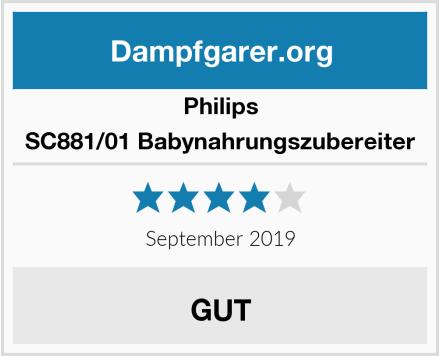 Philips SC881/01 Babynahrungszubereiter Test