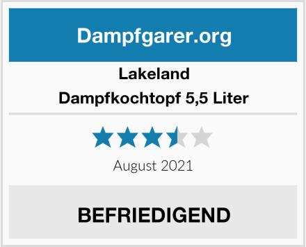 Lakeland Dampfkochtopf 5,5 Liter Test
